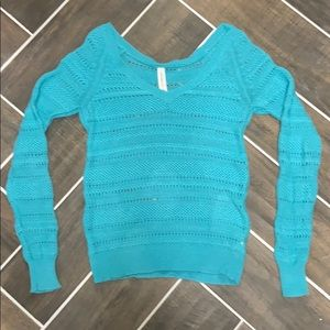 Blue Knitted Aeropostale Sweater